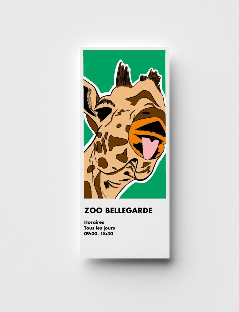 Flyer girafe zoo graphiste